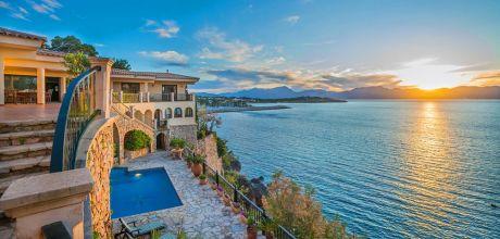 Mallorca Nordküste – Villa Alcudia 4000 mit Meerblick und Pool für 8 Personen, An- und Abreise flexibel – Mindestmietzeit 1 Woche.