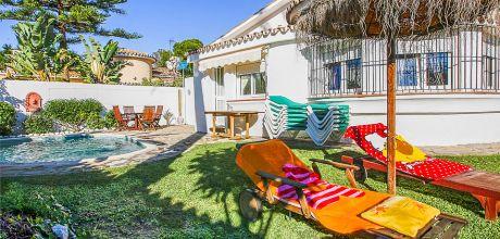 Ferienhaus Costa del Sol Estepona 3021 mit Pool für 6 Personen. Strand 200 m. An- und Abreisetag Samstag, Nebensaison flexibel auf Anfrage gegen Aufpreis – Mindestmietzeit 1 Woche.