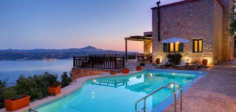 Villa Kreta mit Meerblick – Megala Chorafia 33163 mit Pool für 6 Personen mieten. An- und Abreisetag Dienstag.