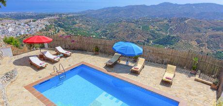 Ferienhaus Costa del Sol Nerja 3022 mit Pool und Panoramablick für 6 Personen. Wechseltag Samstag, Nebensaion flexibel auf Anfrage.
