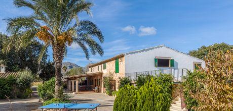 Mallorca Nordküste – Finca Pollensa 43466 mit eingezäuntem Pool und Internet. An- und Abreisetag Samstag. 2018 buchbar.