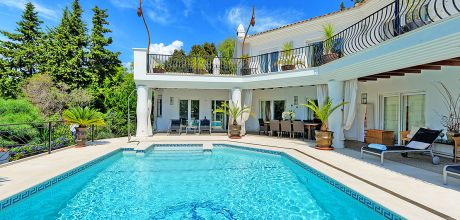 Villa Costa del Sol Estepona 4111 mit Pool und Fitnessraum für 8 Personen, An- und Abreisetag Samstag.