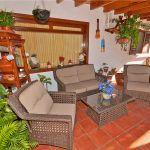 Ferienhaus Gran Canaria GC3364 überdachte Terrasse mit Gartenmöbel