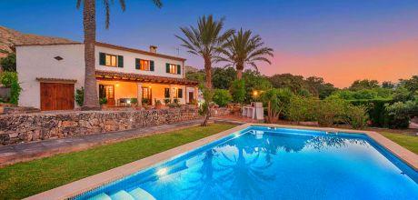 Mallorca Nordküste – Ferienhaus Vicente 4388 mit Pool und Garten in Strandnähe (ca. 1 km). An- und Abreisetag Samstag.