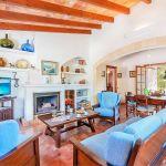 Ferienhaus Mallorca MA2024 Wohnraum mit TV