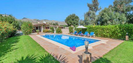 Mallorca Nordküste – Ferienhaus Pollensa 2024 mit privatem Pool für 4 Personen mieten. An- und Abreisetag Samstag.