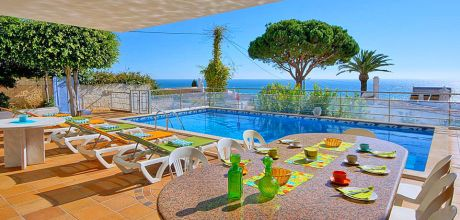 Villa Algarve Sao Rafael 4068 mit beheizbarem Pool und Meerblick für 8 Personen, Strand = 800 m. An- und Abreisetag Samstag – Nebensaison flexibel, Mindestmietzeit 1 Woche.