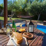 Ferienhaus Kreta KV23476 Esstisch im Garten