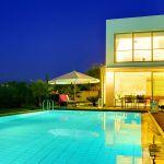 Villa Kreta KV22305 Beleuchtung am Abend