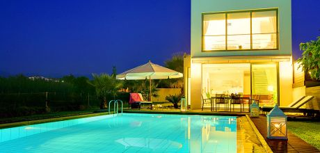 Villa Kreta Maleme 22305 mit Pool und Meerblick in Strandnähe (ca. 100m). An- und Abreisetag Dientag!