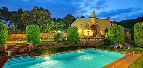 Ferienhaus Costa Brava Regencos 4193 mit privatem Pool und Klimaanlage für 8 Personen. An- und Abreisetag Freitag!