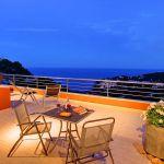 Ferienhaus Costa Brava CBV3163 Terrasse am Abend