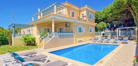 Villa Algarve Olhos d'Agua 5505 mit privatem Pool für 10 Personen, Strand = 700 m. An- und Abreise Samstag, Nebensaison flexible auf Anfrage.