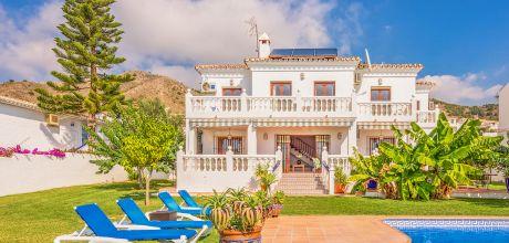 Ferienhaus Costa del Sol Nerja 6021 mit privatem Pool für 11 Personen, Strand = 1,7 km. An- und Abreisetag Samstag.