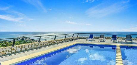 Villa Costa del Sol Benalmadena 5991 mit Pool und Meerblick für 10 Personen, Strand = 1,4 km. An- und Abreisetag Samstag.