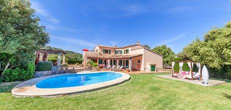 Mallorca Nordküste – Ferienhaus Pollensa 33510 mit privatem Pool für 6 Personen, Strand = 3 km. Wechseltag Freitag.