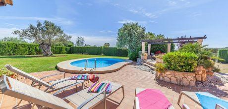 Mallorca Nordküste – Ferienhaus Pollensa 33510 mit privatem Pool für 6 Personen, Strand = 3 km. Wechseltag 2019 Freitag.