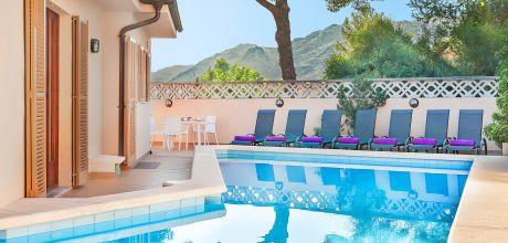 Mallorca Nordküste – Ferienhaus Vicente 6318 mit privatem Pool (15m x 4m) für 12 Personen, Strand = 800 m. An- und Abreisetag Samstag, Nebensaison flexibel auf Anfrage.