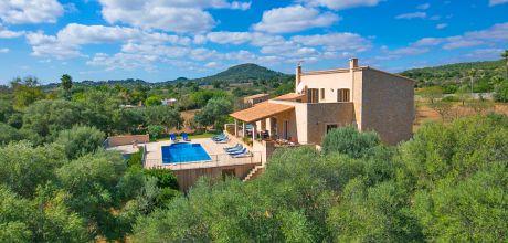Mallorca Südostküste- Finca Carritxo 43512 mit Pool in ruhiger Lage, Grundstück 28.000 qm, Wohnfläche 250 qm, Wechseltag Samstag.