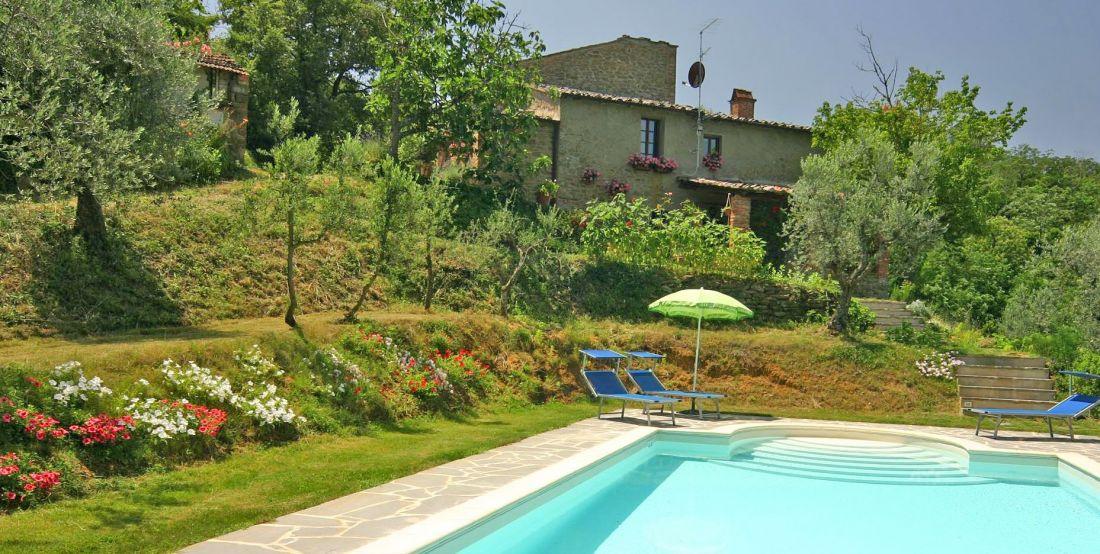 Ferienhaus Toskana TOH200 Sonnenliegen am eigenen Pool