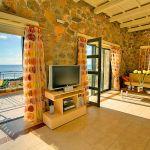 Ferienhaus Kreta KV12283 Wohnbereich mit Zugang zur Terrasse