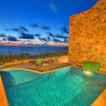 Ferienhaus Kreta KV12283 beleuchteter Pool am Abend