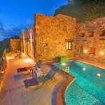 Ferienhaus Kreta KV12283 mit Abendbeleuchtung