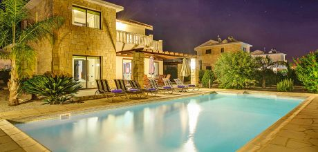 Ferienhaus Zypern Coral Bay 3734 mit Pool für 6 Personen, Strand = 800 m. Wechseltag Mittwoch, Nebensaison flexibel auf Anfrage – Mindestmietzeit 1 Woche. 2019 buchbar.
