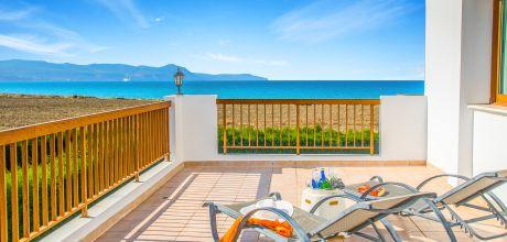 Ferienhaus Zypern Polis 3737 mit Pool + Meerblick für 6 Personen, Strand ca. 100 m. Wechseltag Sonntag.