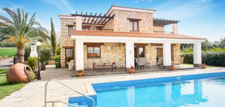 Ferienhaus Zypern Polis 4741 mit Pool für 8 Personen nur ca. 400 m vom Strand entfernt. Wechseltag Mittwoch – Nebensaison flexibel auf Anfrage, Mindestmietzeit 1 Woche.