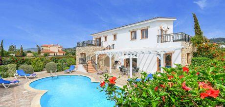 Ferienhaus Zypern Argaka Beach 3730 mit Pool und Meerblick für 6 Personen, Strand = 100m. Wechseltag Mittwoch, Nebensaison flexibel auf Anfrage – Mindestmietzeit 1 Woche.