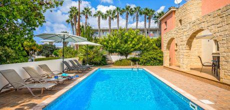 Ferienhaus Zypern Kissonerga 3738 mit privatem Pool für 6 Personen, Strand = 100 m. Wechseltag Mittwoch, Nebensaison flexibel auf Anfrage – Mindestmietzeit 1 Woche.