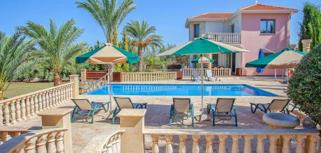 Ferienhaus Zypern Latchi 4743 mit Pool und separatem Whirlpool für 8 Personen. Wechseltag Mittwoch, Nebensaison flexibel auf Anfrage – Mindestmietzeit 1 Woche.