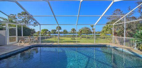 Villa Florida Manasota Beach 41835 mit Pool und herrlichem Blick auf die Bay in Strandnähe (ca. 700m), Grundstück ca. 2.000qm, Wohnfläche ca. 250qm. Wechseltag flexibel.