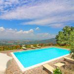Ferienhaus Toskana TOH401 Blick über den Pool