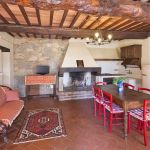Ferienhaus Toskana TOH630 Wohnraum mit Kamin