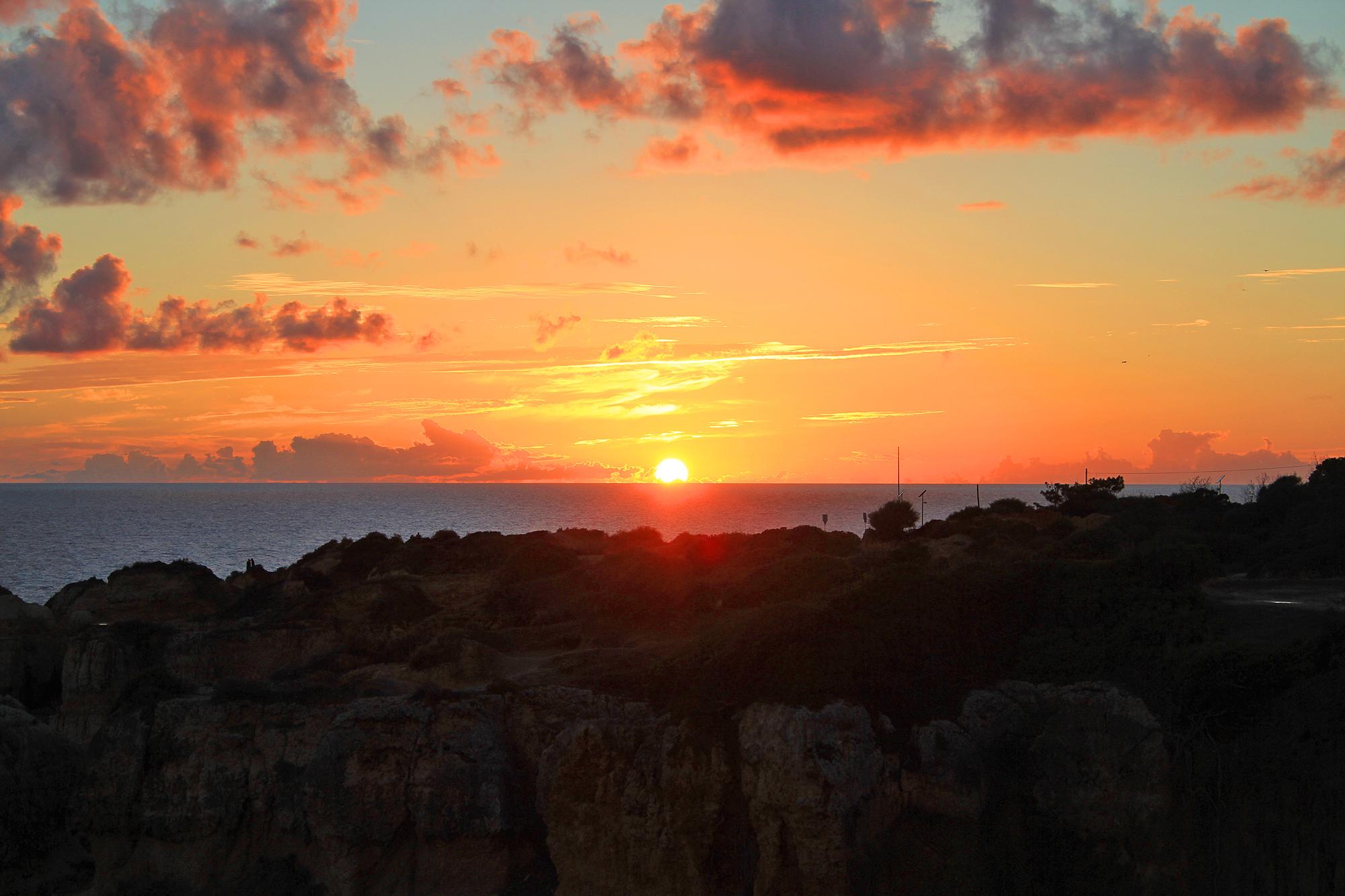 Praia da Coelha - Strand von Coelha Sonnenuntergang 3