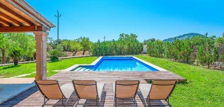Mallorca Nordküste – Ferienhaus Pollensa 3161 mit Pool und Internet für 6 Personen, Strand = 6,2 Km. An- und Abreisetag Samstag – Nebensaison flexibel auf Anfrage, Mindestmietzeit 1 Woche.