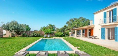 Mallorca Südküste – Ferienhaus Llucmajor 53711 mit Pool und Internet für 10 Personen, Strand = 9 km, An- und Abreisetag Samstag.