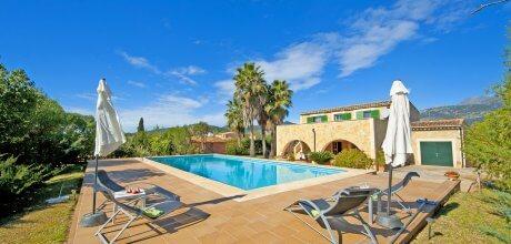 Mallorca Nordküste – Finca Selva 3279 mit großem Pool (15x6m) für 6 Personen, An- und Abreisetag flexibel – Mindestmietzeit 1 Woche.