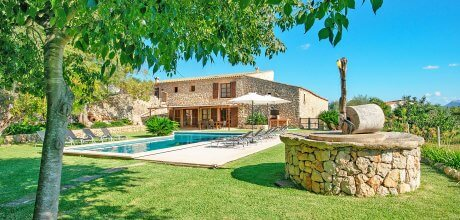 Mallorca Nordküste – Finca Pollensa 53604 mit Pool und Internet für 10 Personen, Strand = 8 km. An- und Abreisetag Freitag.