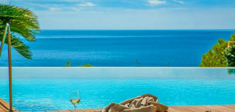 Villa Costa Brava Llafranc 43555 mit Pool und traumhaftem Meerblick für 8 Personen, Strand = 750m, An- und Abreisetag Freitag.