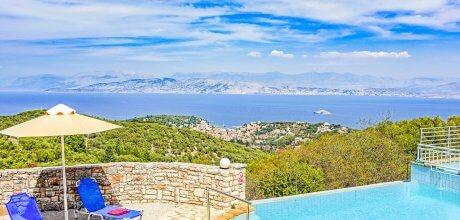 Ferienhaus Korfu Kassiopi 3606 mit Pool, Kinderpool und Meerblick für 6 Personen, Strand = 2 km, Wechseltag Montag, Nebensaison flexibel auf Anfrage – Mindestmietzeit 1 Woche.