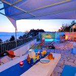Ferienhaus Korfu KOV22301 überdachte Terrasse mit Meerblick