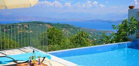 Ferienhaus Korfu mit Pool und Meerblick Kalami 22301 für 4 Personen, Strand = 3 km. An- und Abreisetag Montag.