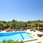Luxus-Finca Pollensa MA5371 Blick auf den Pool