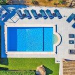 Luxus-Finca Pollensa MA5371 Pool aus der Vogelperspektive