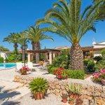 Ferienhaus Mallorca MA3158 Garten mit Palmen