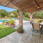 Ferienhaus Mallorca MA3520 überdachte Terrasse mit Esstisch