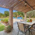 Ferienhaus Mallorca MA3520 Esstisch auf der Terrasse